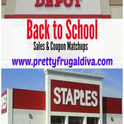 back to school sales and coupon matchups