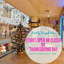 Stores open or closed on Thanksgiving Day