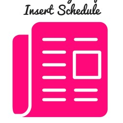 2016 sunday coupon insert schedule