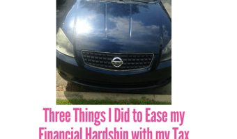 Three Things I Did to Ease my Financial Hardship with my Tax Refund