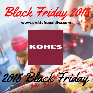 2016 Kohls Black Friday