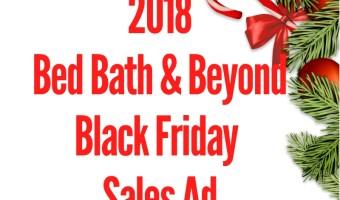 2018 Bed Bath & Beyond Black Friday Sales Ad
