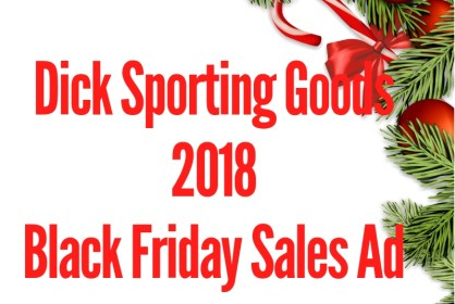 2018 Dicks Sporting Goods Black Friday Sales Ad