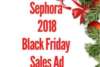 2018 Sephora Black Friday Sales Ad