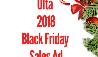 2018 Ulta Black Friday Sales Ad
