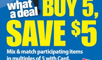 Kroger Buy 5, Save $5 Mega Sale