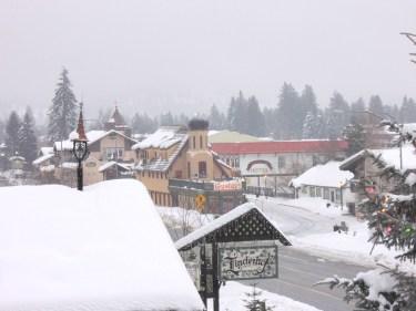 Leavenworth on Christmas morning.