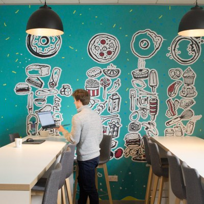 Canteen Graphic on Wall