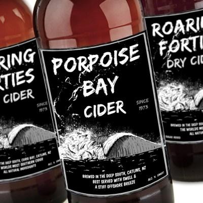 Porpoise bay craft cider branding