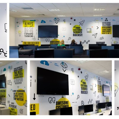 Customer support quote wall