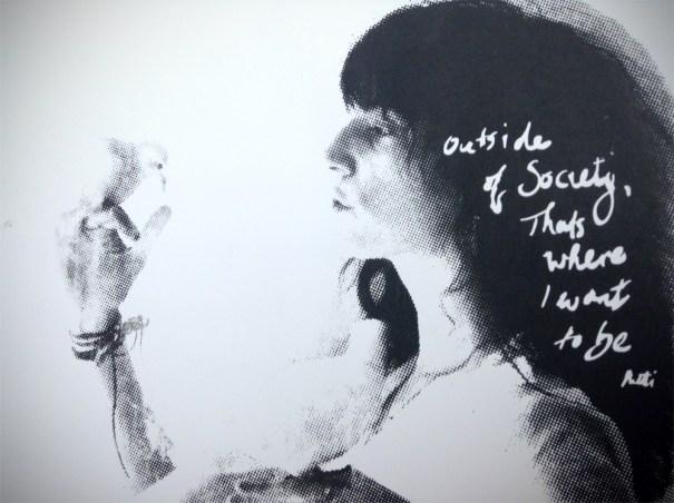 Patti screenprint on white art paper