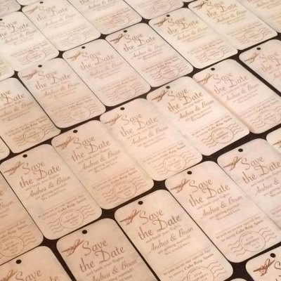 Wedding invitation multiple laser cut