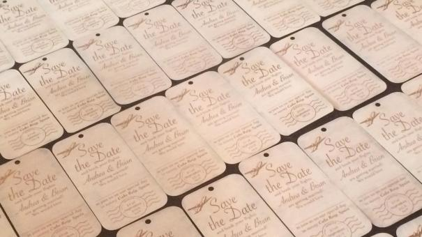 Wedding invites woodcut