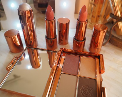 Rosie Huntington-Whitely Rose for Autograph Marks & Spencer Makeup Lip Glossy Super Model Smile Lights,Camera,Action Get The Glow Highlighter, Eyeshadow Palette Copper Gold Rush, Look of Love Lipstick, Lady Rose, Camisole Blush Review Swatch Haul