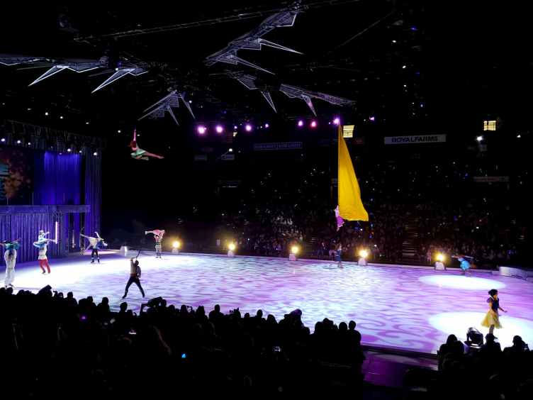 Disney On Ice Aerial performance