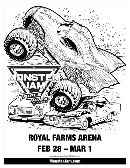 Monster Jam Coloring Sheet
