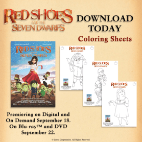 Red Shoes Coloring sheets
