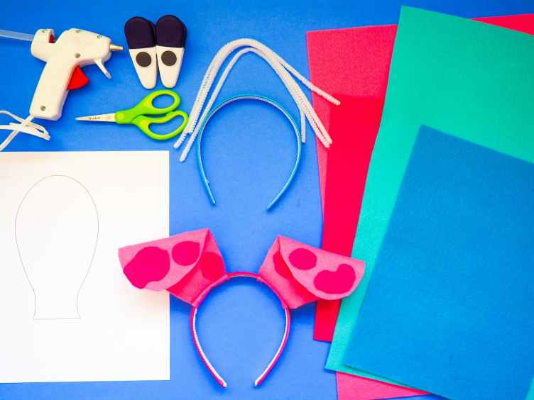 Supplies needed for Blues Clues Custom Ear Craft