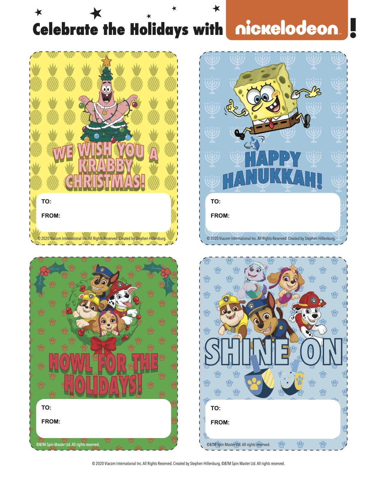 Nickelodeon Present Tags