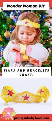 Wonder Woman DIY Tiara and Bracelet Craft