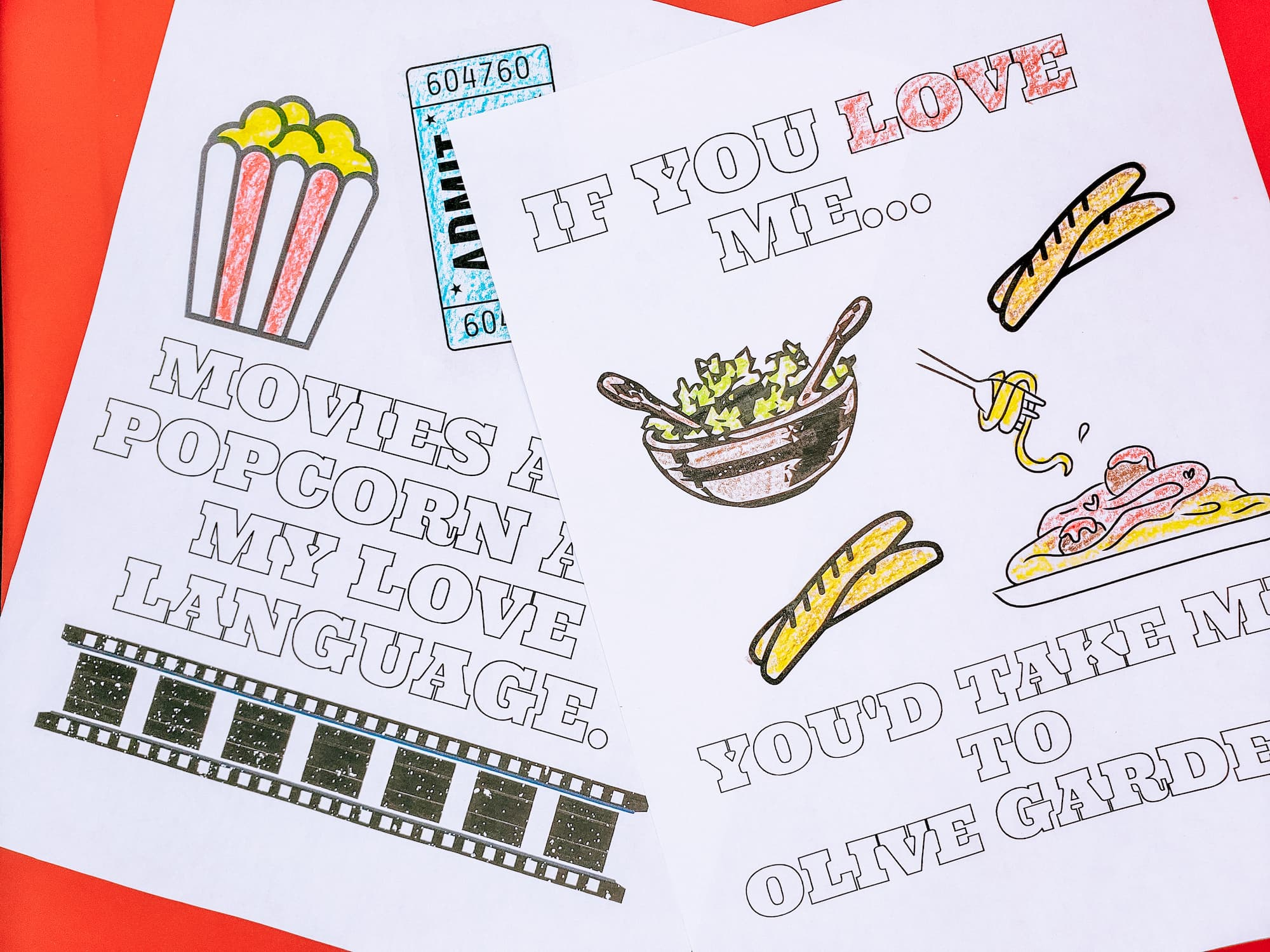 Valentine's Day Inspired Coloring and Activity Sheets