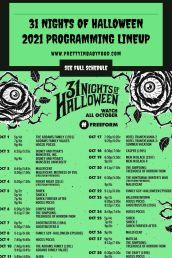 31 Nights of Halloween 2021 Programming Lineup