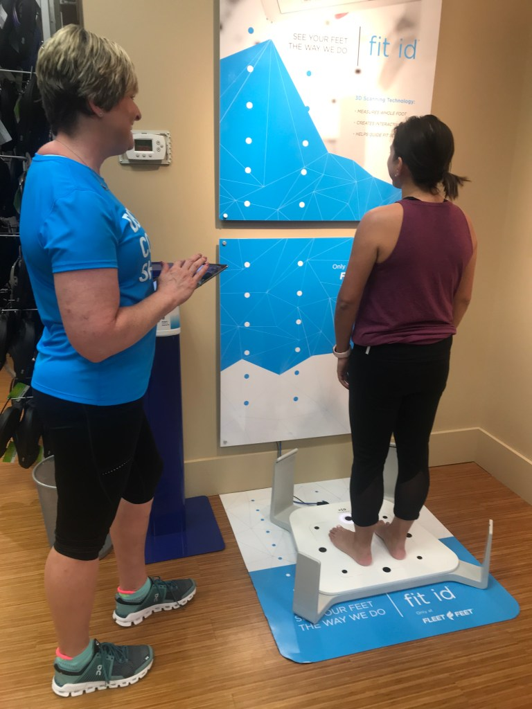 9dd579945 Fleet Feet uses a 3D scanning technology to take precise measurements of  your feet and captures 12 data points to give you personalized shoe and  insole ...