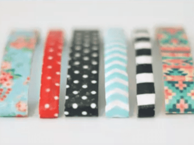 DIY Patterned Hair Clips