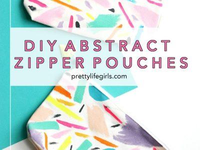DIY Abstract Zipper Pouches