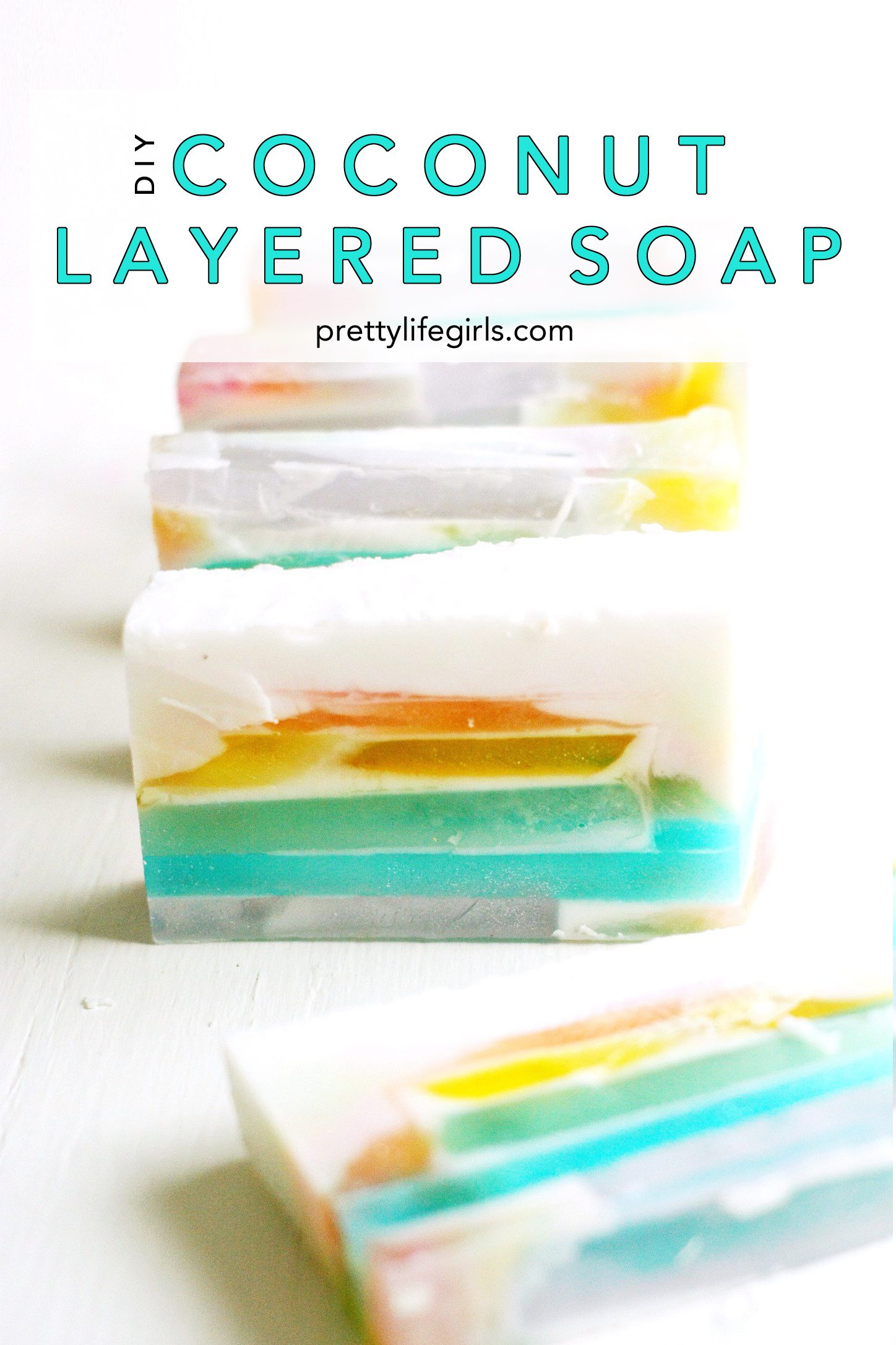 DIY coconut soap tutorial featured by top US craft blog, Pretty Life Girls