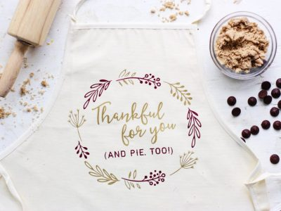 DIY Thankful Holiday Apron