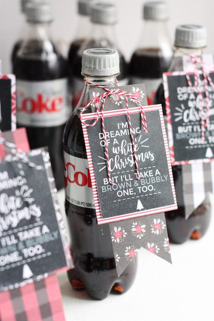 DIY Diet Coke Gift Tags