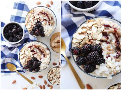 Almond Butter & Jam Overnight Oats