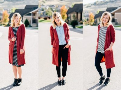 3 Ways to Wear a Long Cardigan
