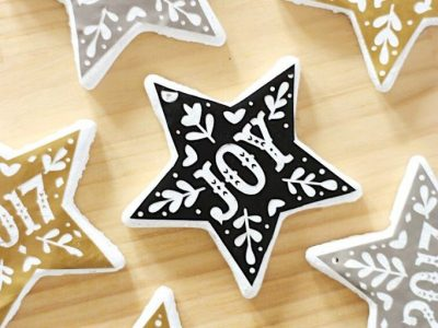 DIY Graphic Salt Dough Ornaments
