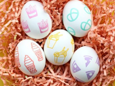 DIY Favorite Foods Easter Eggs