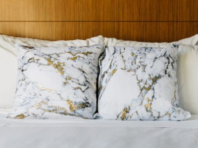 DIY Marbled Foil Pillows with Snapfish