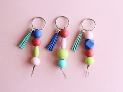 Easy DIY Beaded Keychains