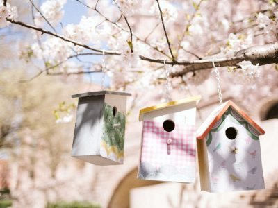 DIY Patterned Bird Houses