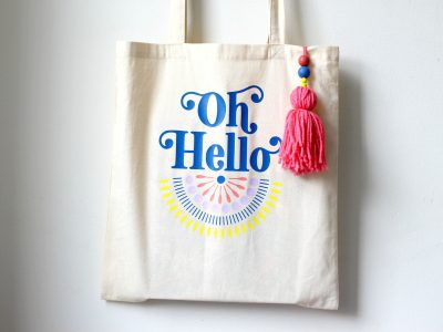 DIY Oh Hello Tote Bag