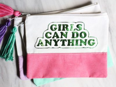 DIY Girl Power Pouches