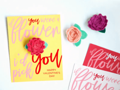 DIY Valentines with Removable Flower Pin