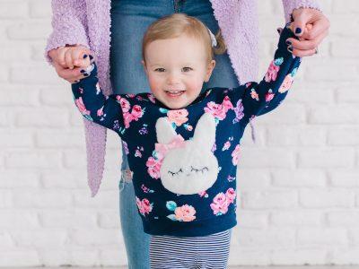 DIY Fuzzy Bunny Sweatshirt
