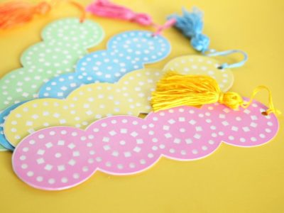 Lace-Cut Summer Reading Bookmarks