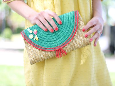 Tutorial: How to Make a Hand Painted Straw Clutch