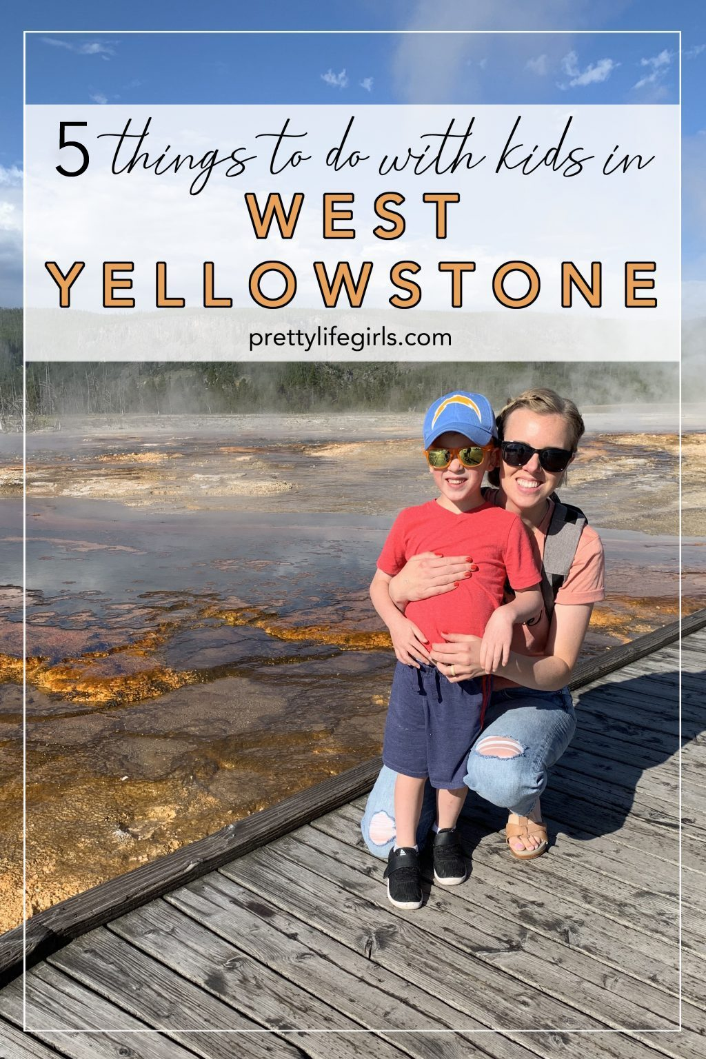 west yellowstone with kids pin