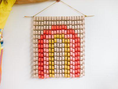 DIY Paper Chain Rainbow Wall Hanging