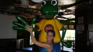 It's a tradition- if I go to Senor Frogs I have to high five the frog!