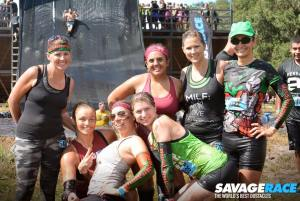 A pic of the girls after Colossus slide!