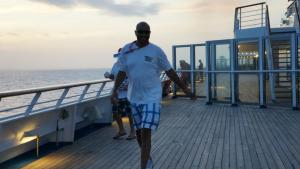 Uncle Troy- being silly on the family cruise, 2012